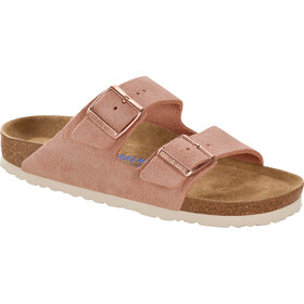 Birkenstock Arizona Soft Footbed Sandals Suede Leather Narrow Women, light rose